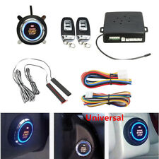 Car Alarm System Passive Keyless Entry Push Remote Engine Start/Stop Universal