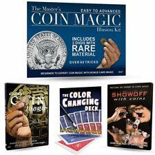 Master's Coin Magic Illusion Kit- Rare Material- Bonus Tricks
