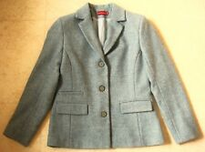 MARY KIMBERLEY VESTE T. 38 BLEU LAINE SHETLAND FEMME WOMAN WOOL COAT JACKET 68028dad068