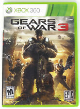Xbox 360 Gears of War 3 Disc Case Manual Stickers Disc is Scratch Free GUC