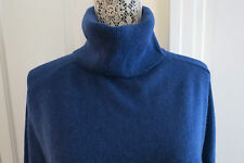 Magaschoni Oversized Cashmere Turtleneck Sweater Dark Blue Small NWT $348