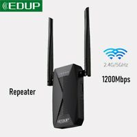 EDUP 1200M WiFi Repeater Extender Dual Band 2.4G&5GHz Wireless Network 802.11AC