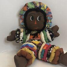 African American Cloth Rag Doll Primitive Folk Art Handmade Doll 14� Yoyo Baby