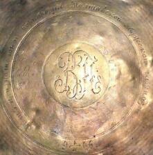 1906 Antique Tsarism Plewkiewicz W Warszawie Poland Bronze Brass Tray Fraget
