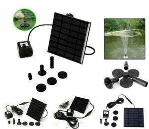 Solar Panel Powered Water Feature Pump Garden Pool Pond Aquarium Fountain 180L/H