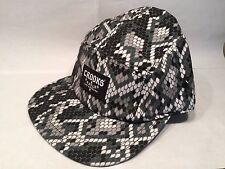 Crooks & Castles Sidewinder 5 Panel Snake Pattern Strapsnap Cap Hat $40