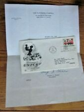 UNICEF 1966 UNITED NATIONS NY SCARCE FLINTKOTE COMMERCIAL FDC + ORIGINAL LETTER
