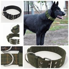 Heavy Duty Neck Buckl Large Dog Collar Large Breed Nylon Collars Adjustable XL L