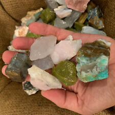 500 Carat Lots of Mixed Opal (Green, Blue, Pink, Clear) Rough + Free Faceted Gem