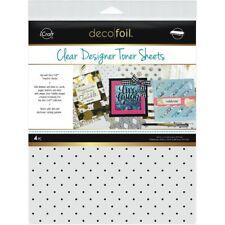 """Deco Foil Clear Toner Sheets 8.5""""X11"""" 4/Pkg -Polka Dots"""