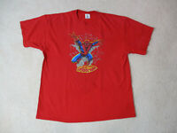 VINTAGE Spiderman Shirt Adult Extra Large Red Red Comic Book Super Hero Men 90s*