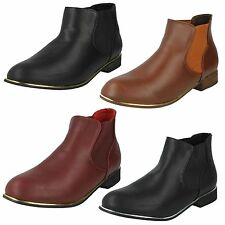 Women's Synthetic Pull on Ankle Boots