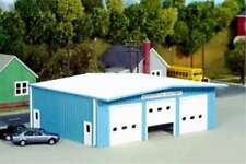 HO Scale - Fire Station 51' x 40' - Kit - Pikestuff 541-0019