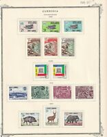 CAMBODIA 6 ALBUM PAGES COLLECTION LOT 72 STAMPS MOST MINT OG 1966+