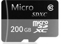 200GB Class 10 Micro SD XC Memory Card with Adapter