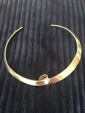 ** impresionante cosecha de plata esterlina 925S Georg Jensen torsión del cuello Puño **