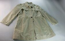 Tommy hilfiger women cream winter rain coat with tight belt and pockets size XL