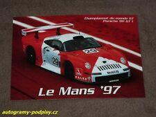 (1997) PORSCHE 911 GT1, 24H Le Mans (Ferte, Thevenin...) - Karte/card cca 10x15
