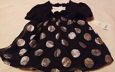 george blk and silver girls 24m dress
