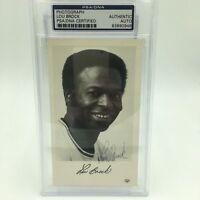Vintage Lou Brock Signed Autographed Photo PSA DNA