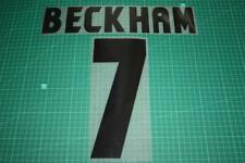 Manchester United 98/99 #7 BECKHAM UEFA Chaimpons League Awaykit Nameset Print