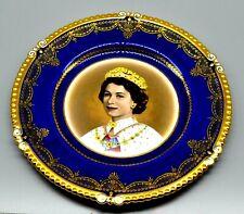 Spectacular Queen Elizabeth Aynsley Coronation Plate  1953