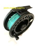 ASL Fishing Fly Reel With 8 WF Intermediate Line , Backing + Leader fitted Aqua