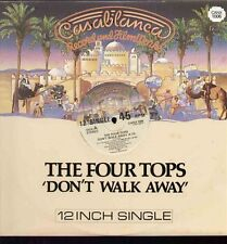 """Four Tops Don't Walk Away All Over + 1 - Casablanca UK 12"""" single CANX1006"""