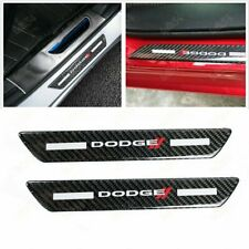 For Dodge Carbon Car Rear Door Welcome Plate Sill Scuff Cover Decal Sticker X2