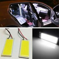 5Pcs White 48 SMD COB LED T10 4W 12V Car Interior Panel Light Dome Lamp Bulb Kit