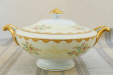 Vtg. Meito China Dalton Hand Painted Floral Covered Serving Bowl F & B Japan
