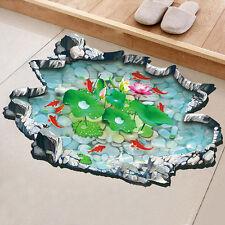 3D Optik Fische Teich Aquarium Boden Aufkleber Wandbilder tatoo Bad Sticker Deko