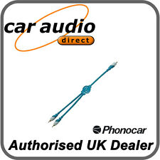 Phonocar 4/276 Y-Lead Adaptor High quality signal conductors 2 x Cables Supplied