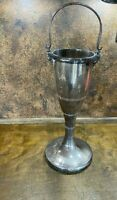 Vintage Mid Century CHAMPAGNE Bottle Stand / Ice Bucket Silver Plated