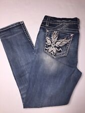 Miss Me Mid Rise Easy SKINNY Jeans E3268ESR Women's Size 32 X 31 Blue