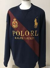 New Polo Ralph Lauren  Crest Sweatshirt Men's RARE Crew Neck Sweater XXL