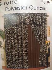 Giraffe animal print curtain. Window or door drapery decoration