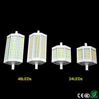 R7S de luz LED 15 / 25W 24 / 48LED bombilla de lámpara SMD5730 78 / 118mm Foco