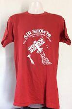 Vtg 1982 Air Show '82 Niagara Falls T-Shirt Red Airplane Flight