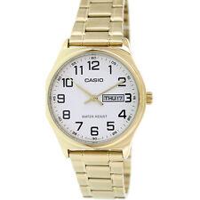 Casio Men's Analog Quartz Day/Date Gold Tone Stainless Steel Watch MTPV003G-7B
