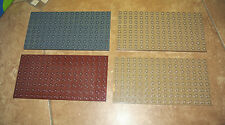 Lego Duplo Knight castle Base Plate x4  Brown tan dark gray  8 x 16 brick EUC