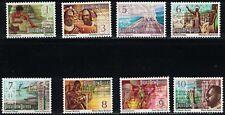 PapuaNewGuineaSC369-388ArtDetailFromLifeInPapua-Woodcarver-Dancers-Hunters'74'74