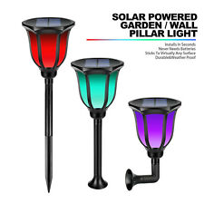 Chirstmas Light Solar Powered Garden Lights Post Patio Outdoor Led Lighting