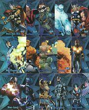 2013 Fleer Marvel Retro Ultra Stars Complete 15 Card Insert Set - Thor, Rocket +