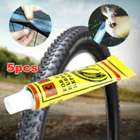 5Pcs Bike Bicycle Tire Tube Patch Glue Rubber Cement Puncture Repair Tools Top
