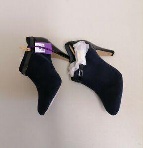 Lotus-Navy 'Vicki' High Stiletto Heel Shoes Boots size UK4 {B114} H10