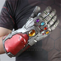 Avengers Endgame LED Latex Glove Infinity Stone Gauntlet Iron Man Cosplay Props