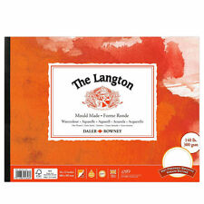 Daler Rowney Langton WATERCOLOUR Pad-HP-Liscia Hot PRESSATO - 14x10