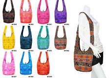 SALE Thai Hippie Hobo Sling Shoulder Crossbody Bag Purse Ethnic Zip Boho Gypsy