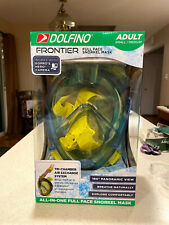 New Dolfino Frontier All in one full face snorkel mask Adult Small/Medium